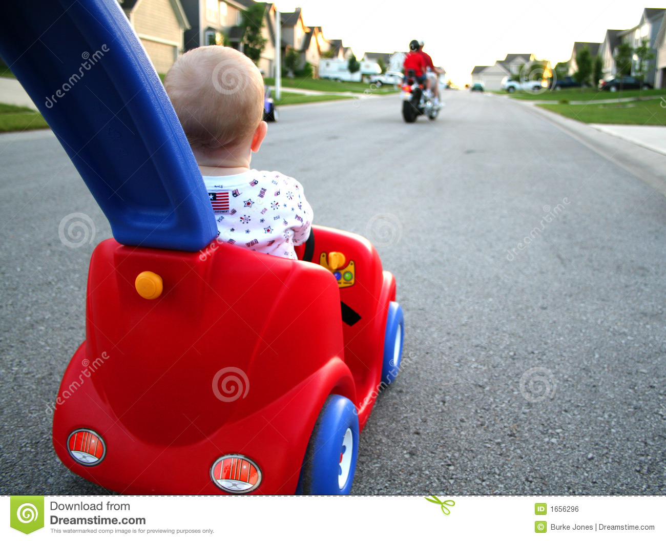 Baby Driving Car Stock Photo Image Of Outdoors Push 1656296