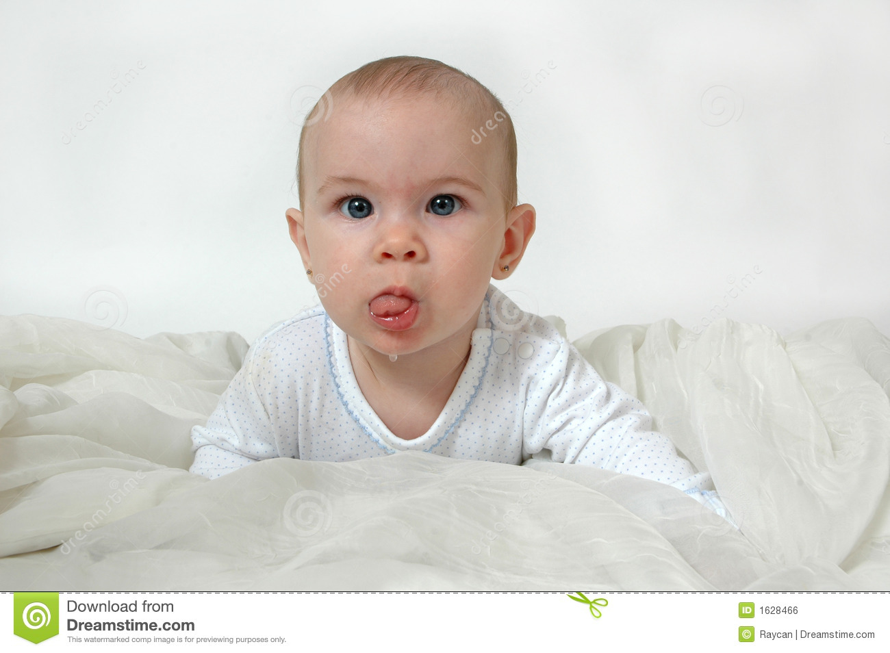 Baby Drool Royalty Free Stock Image