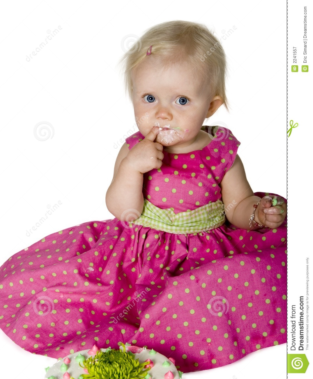 Baby Eating Cake Royalty Free Stock Photography - Image ...