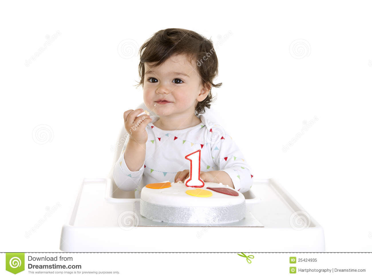 Baby Eating Cake Royalty Free Stock Photo - Image: 25424935