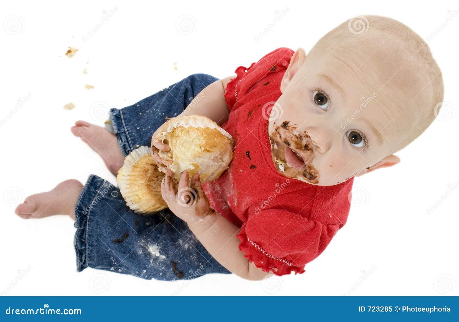 Baby Eating Cake Clipart : Baby Eating Cake Royalty Free Stock Photo - Image: 723285
