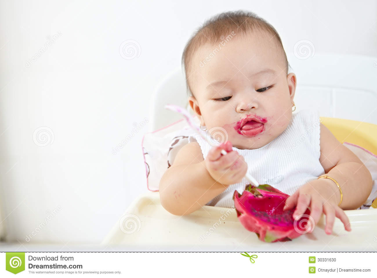 Baby Eating Dragon Fruit Stock Photo Image: 30331630 How To Eat Eat Dragon  Fruit Solution