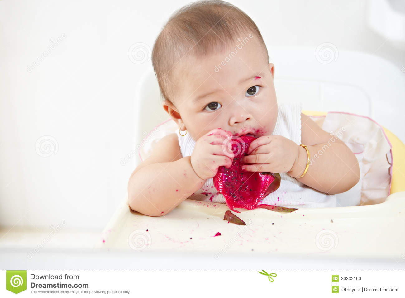 Baby Eating Dragon Fruit Stock Photo Image: 30332100 How To Eat A Dragon  Fruit Raw