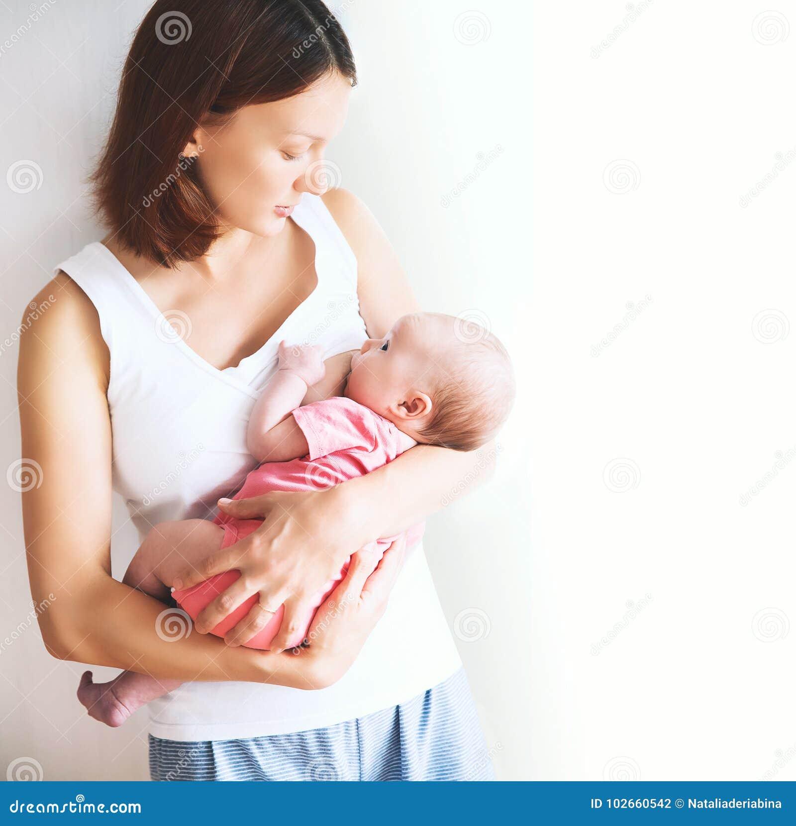 Download Mother Breastfeeding Newborn Baby Child Stock Photo - Image of bonding, born: 102660542