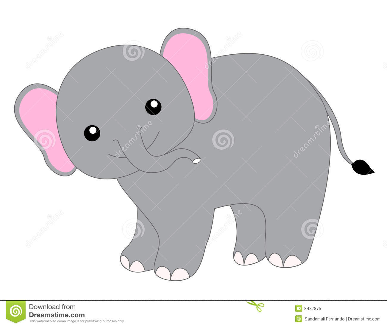 baby elephant stock vector illustration of children asian 8437875