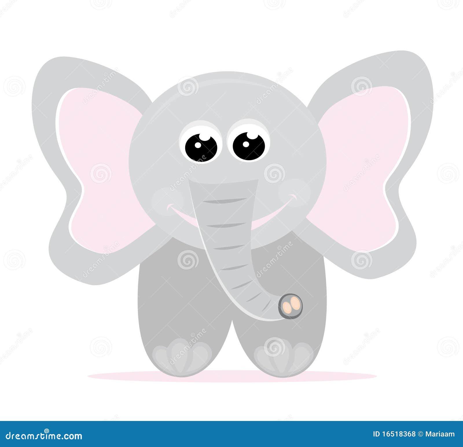 Baby Elephant Cartoon Stock Vector Illustration Of