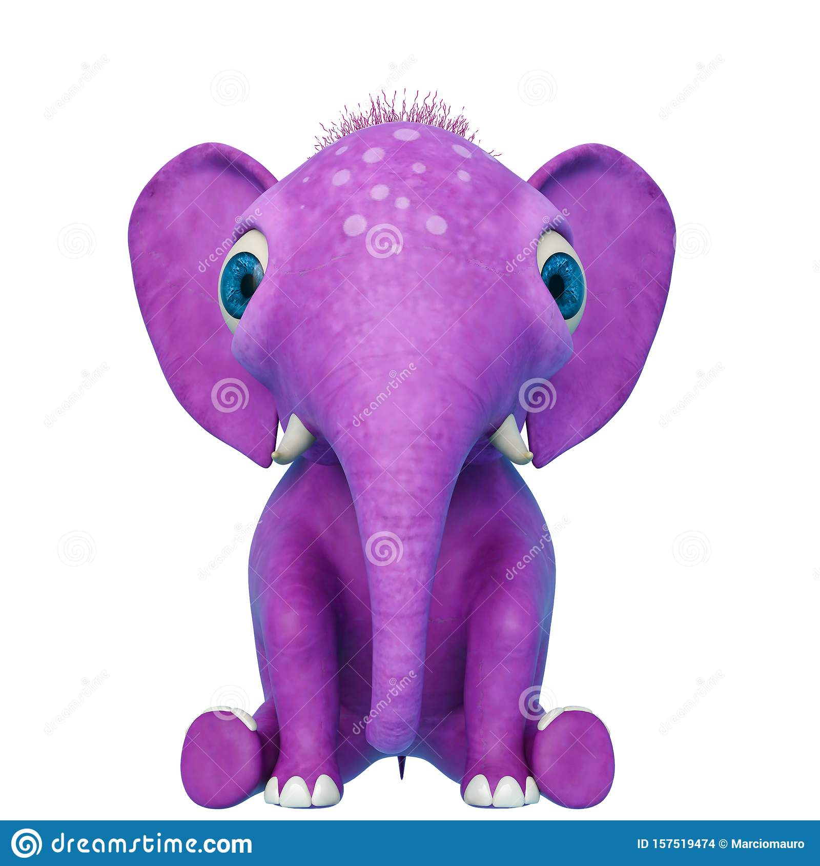 Baby Elephant Cartoon Sitting In A White Background Stock Illustration Illustration Of Cool Nice 157519474