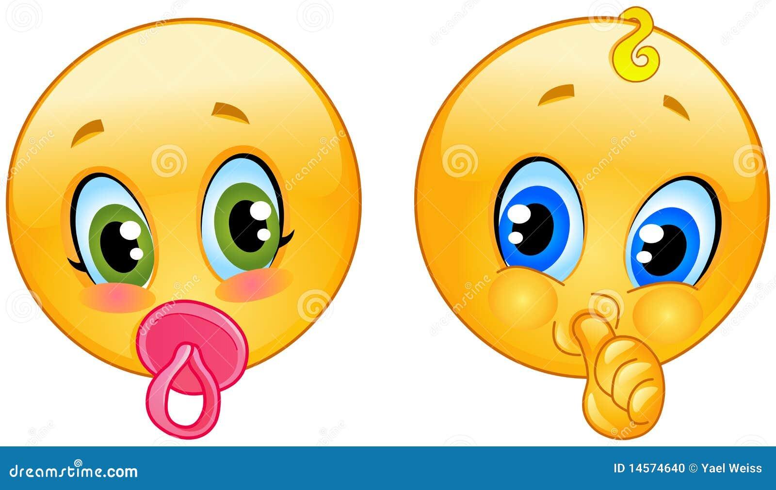 Baby Emoticons Stock Photo - Image: 14574640