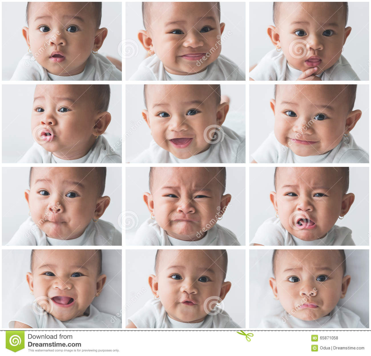 download baby expression collage stock photo image of headshot 65871058
