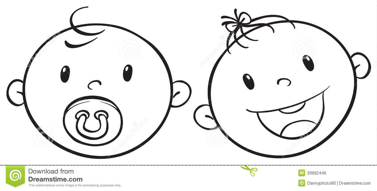 Baby boy free coloring pages on art coloring pages - Baby Girl Face Outline Www Galleryhip Com The Hippest Pics