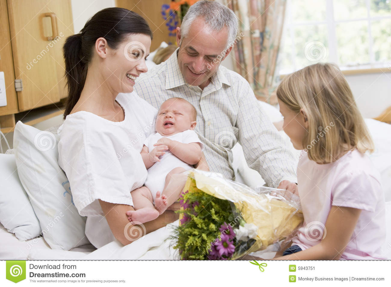 Baby family hospital mother new smilin