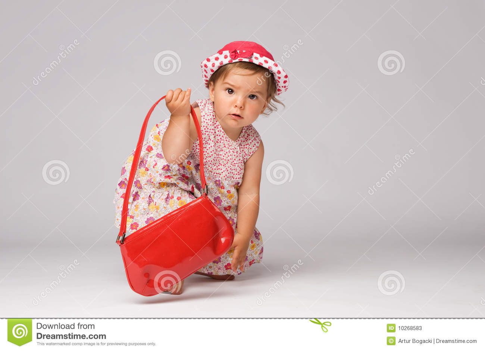 Baby Fashion Model Posing stock image. Image of childhood ...