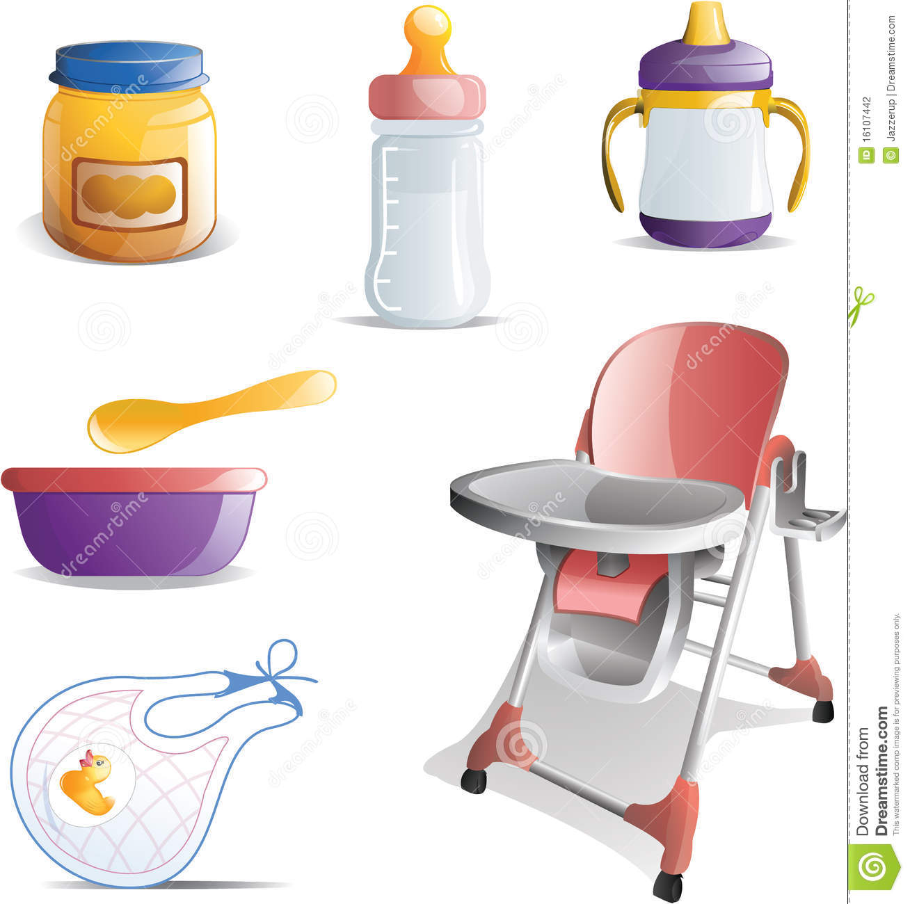 Baby feeding icon set stock photography image 16107442 for Art cuisine evolution 10 piece cooking set