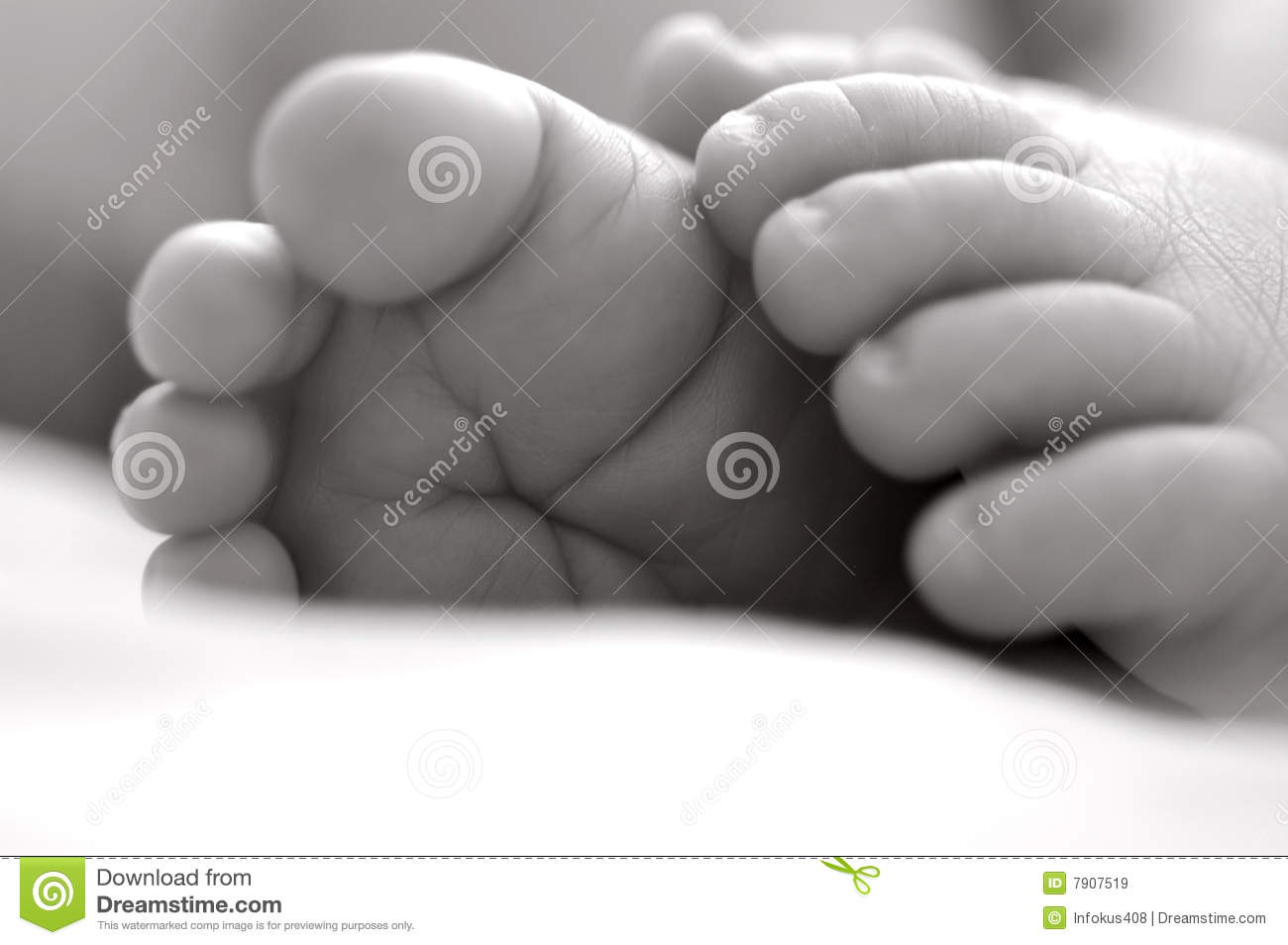 Download Baby feet stock image. Image of body, wrinkles, closeup - 7907519