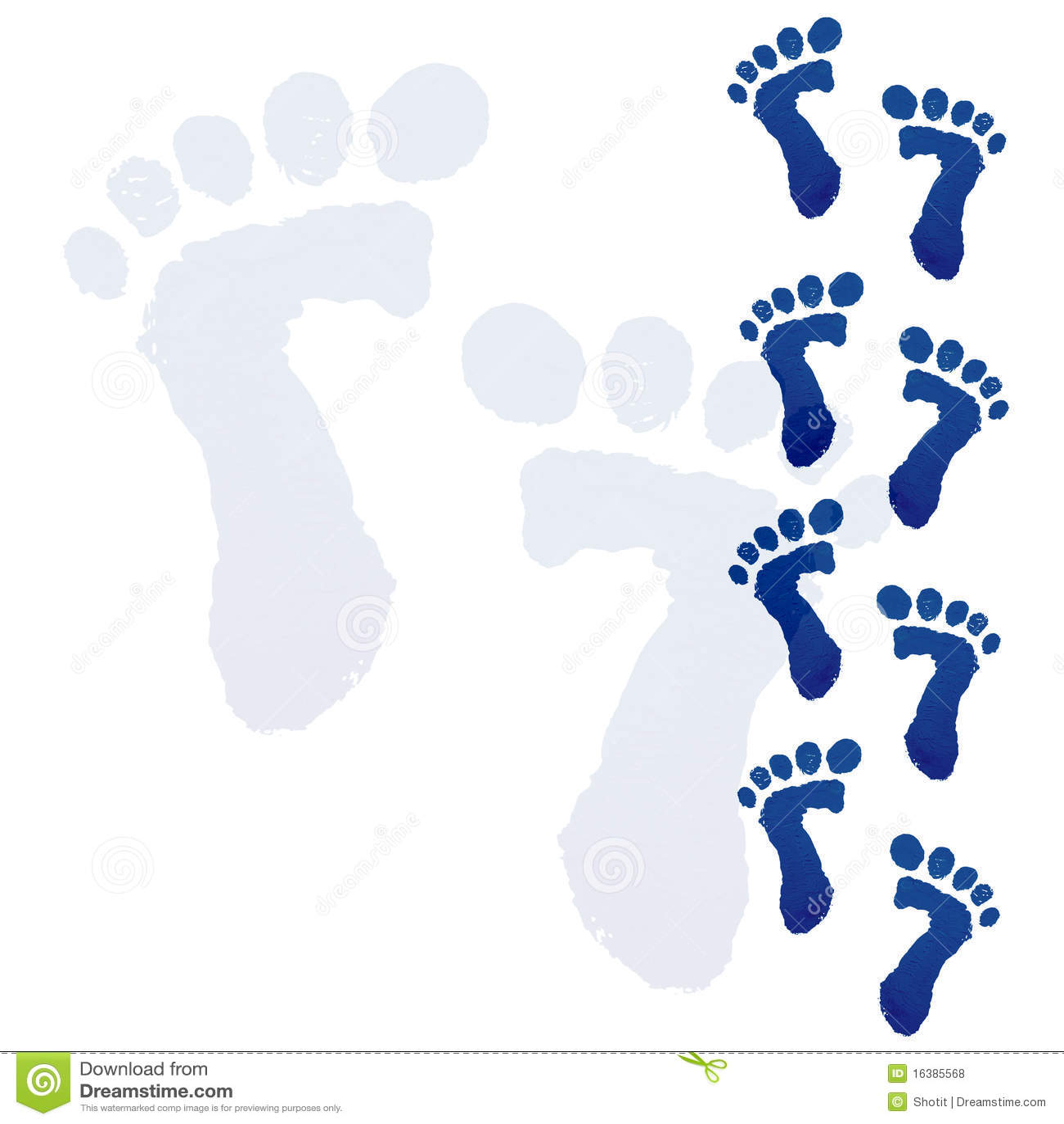 Baby Feet Print Royalty Free Stock Photos Image 16385568