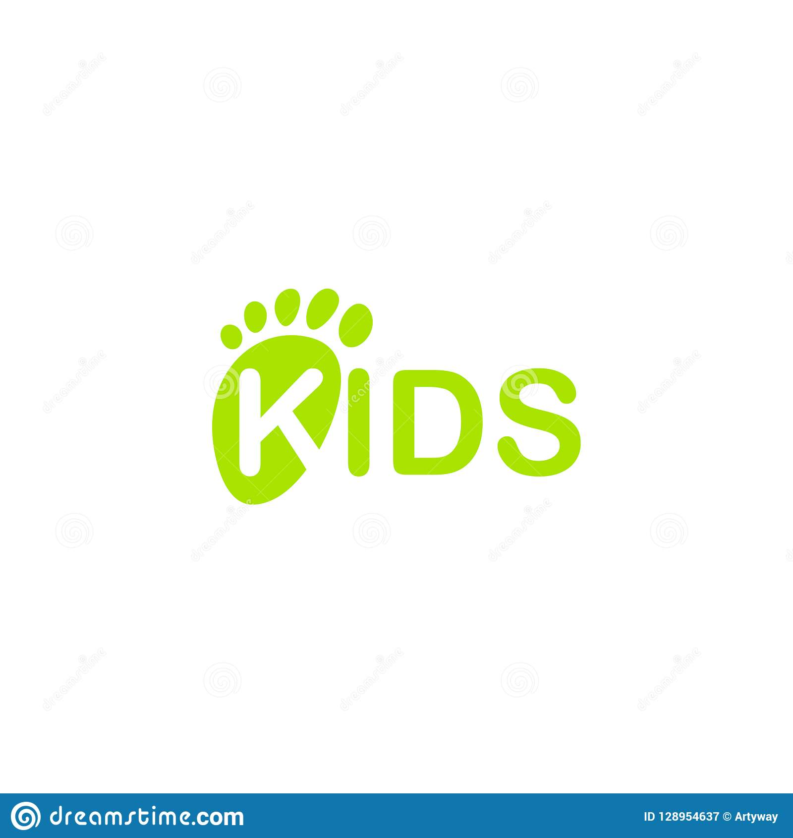 Baby Feet Vector Icon. Isolated Newborn Foot Print. Kids Footprint Illustration on blank background.