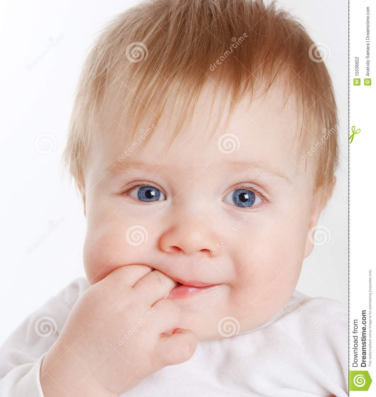 Baby with fingers in mouth