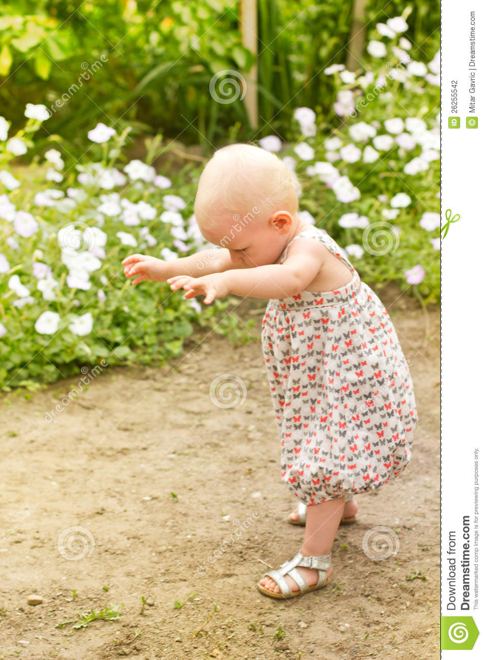 First Step To Success: Baby First Step Stock Photography