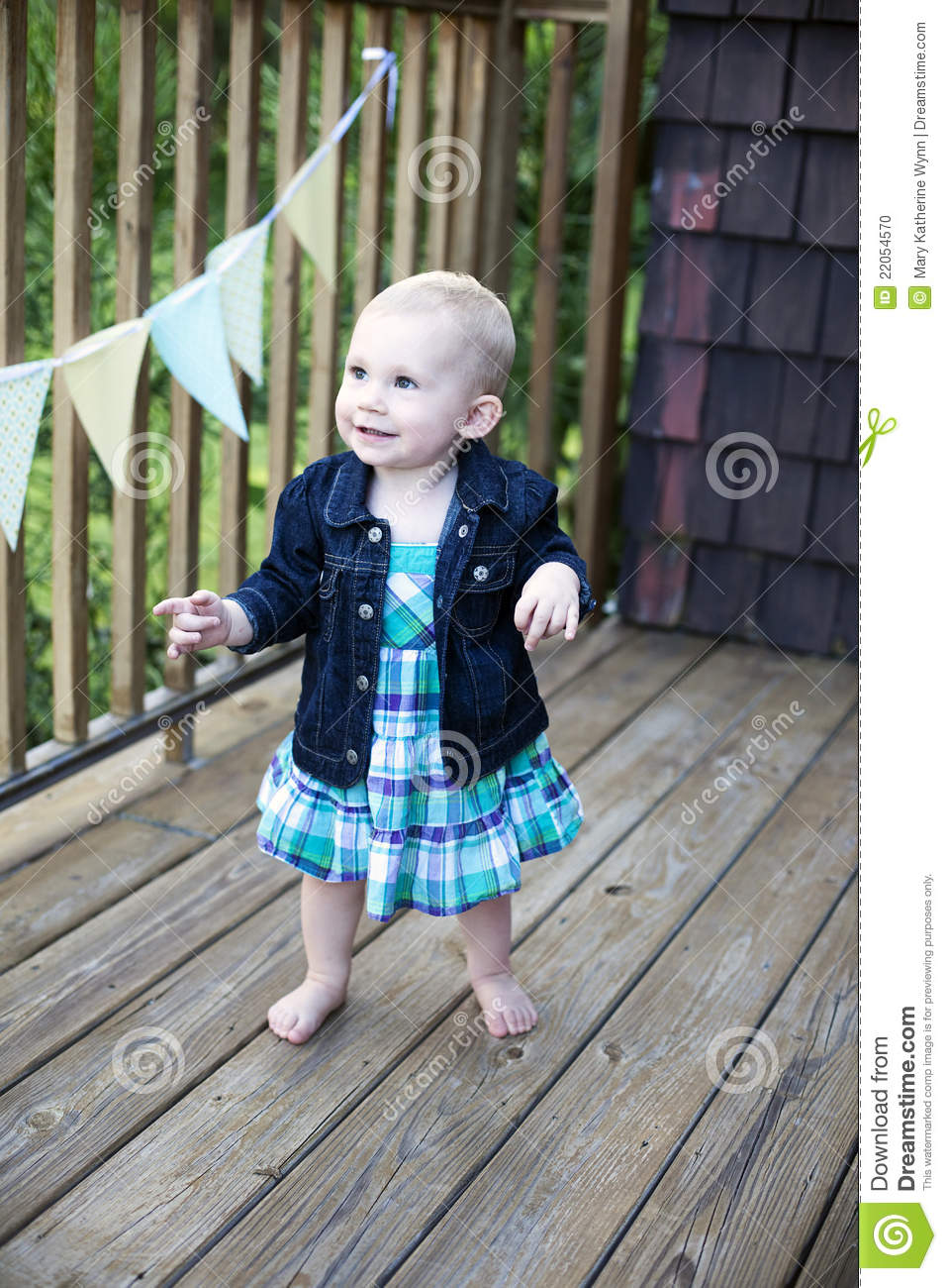 First Step To Success: First Steps Of Baby Royalty-Free Stock Photography