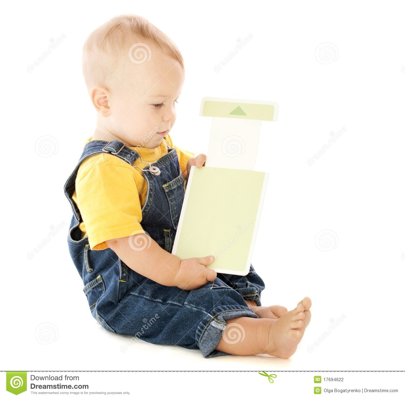 Baby with Flash Card stock photo. Image of flashcard ...
