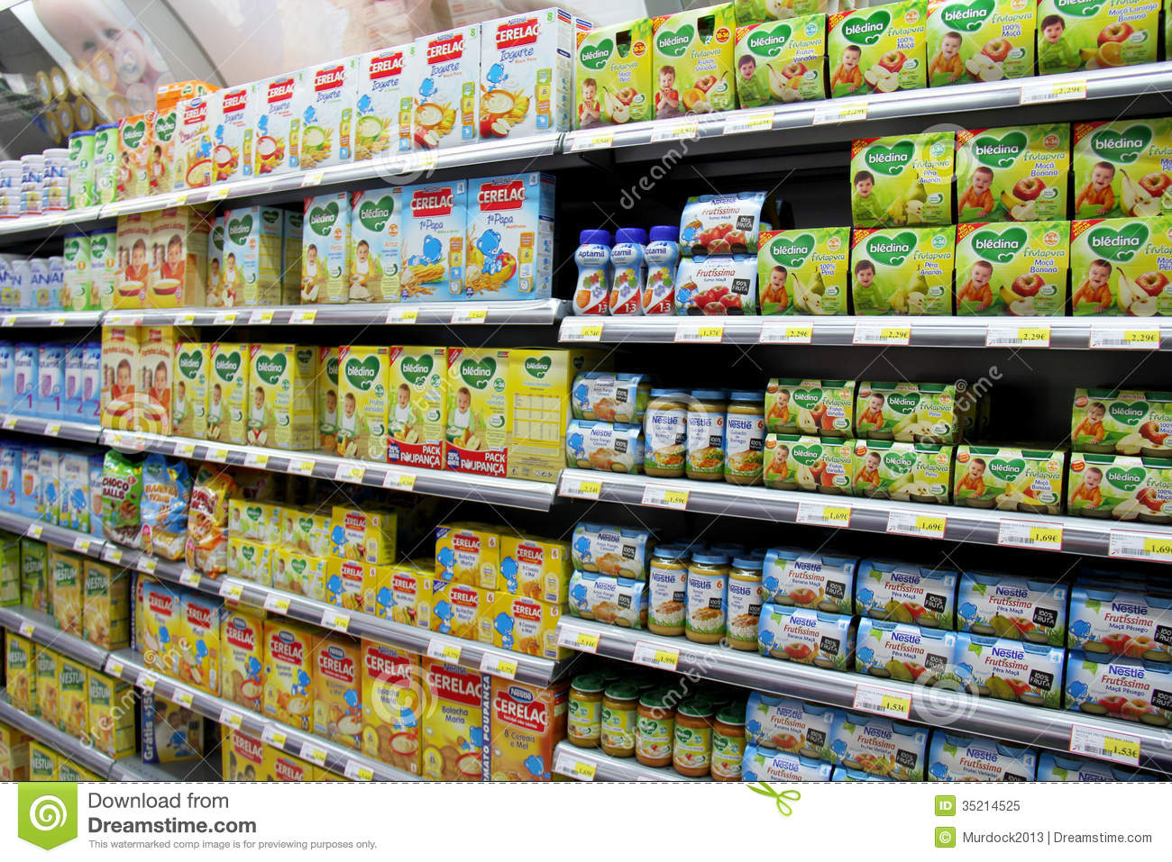Free Images Of Baby Food Jars In A Market Shelf