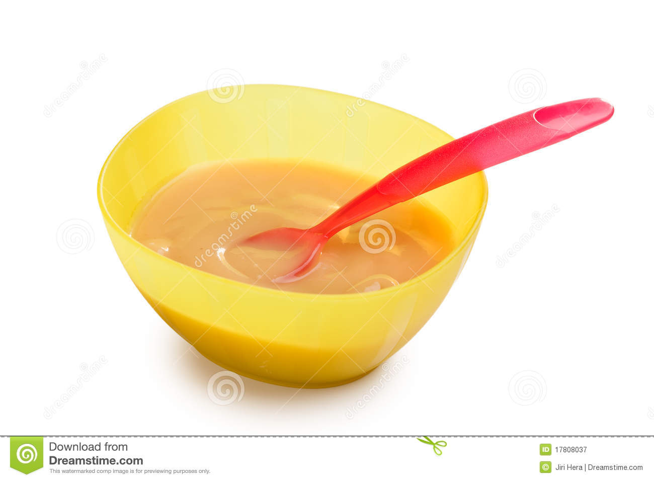 Baby Food In Plastic Bowl Royalty Free Stock Photography - Image ...
