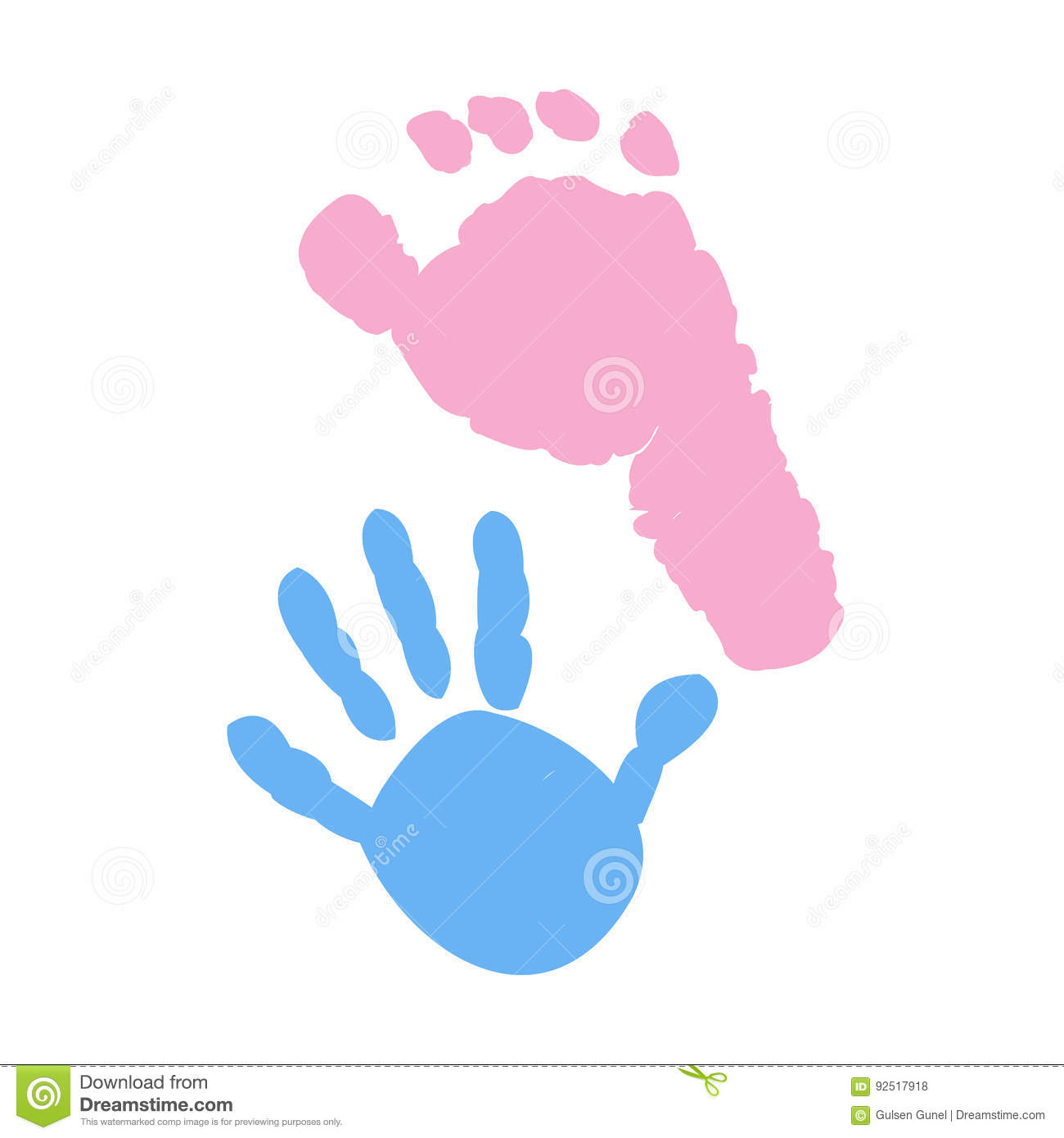 Baby Foot And Baby Hand Prints Baby Girl Baby Boy Twin Baby Symbol