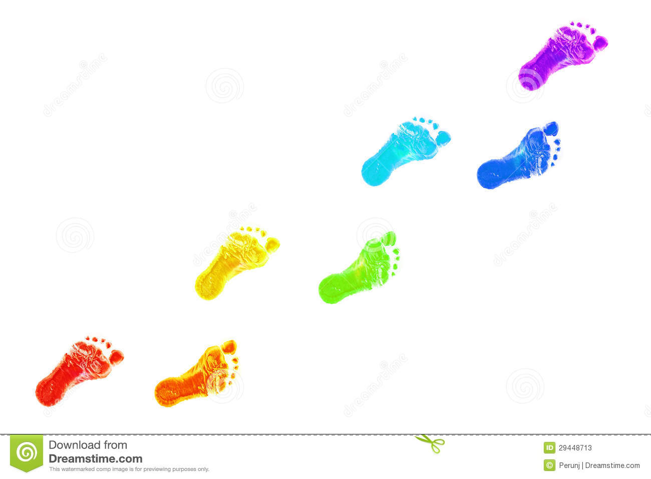 baby foot prints all colors of the rainbow stock photos baby footprint clip art mint baby footprint clipart border free