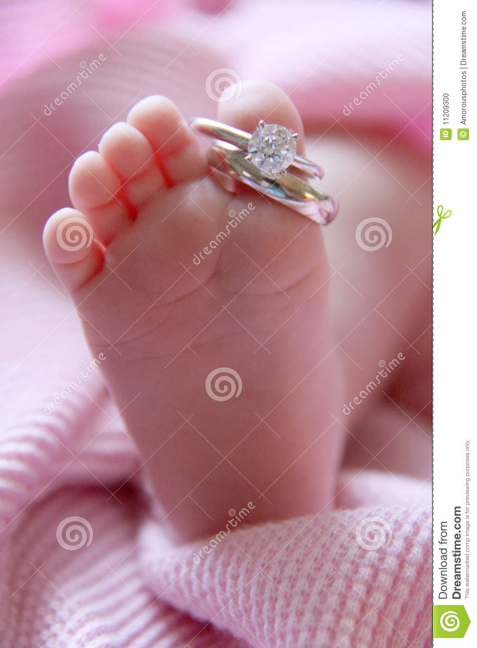 Baby Foot And Wedding Rings Stock Photo  Image: 11209300
