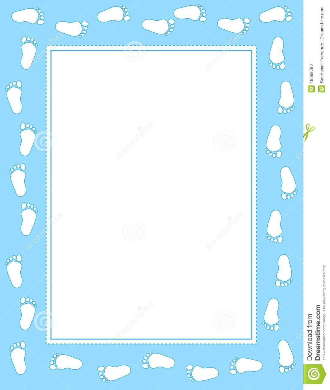 Baby Boy Feet Borders Frames Stock Illustrations 16 Baby Boy Feet