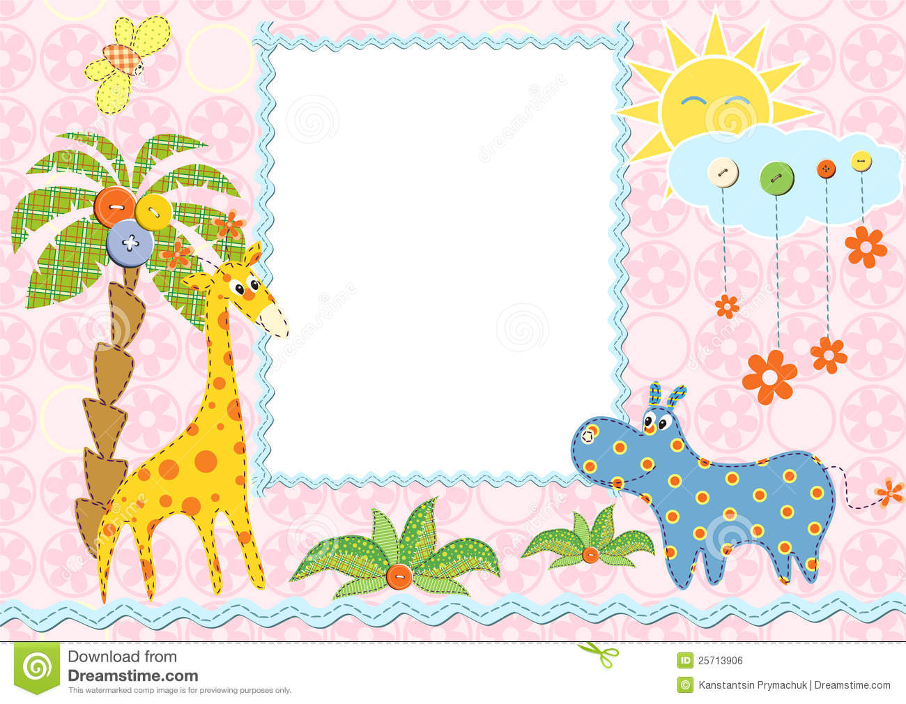 Baby frame or card stock illustration. Illustration of design - 25713906