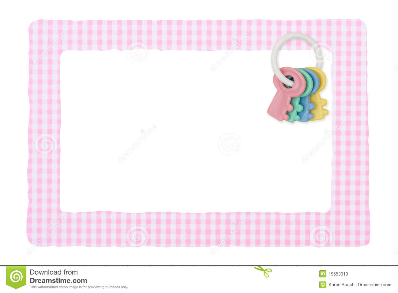 Baby Frame for girl stock image. Image of white, girl - 19553919