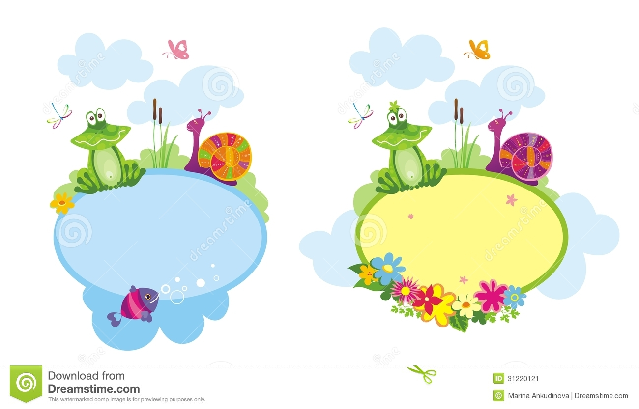 Baby frame. stock vector. Illustration of announcement - 31220121