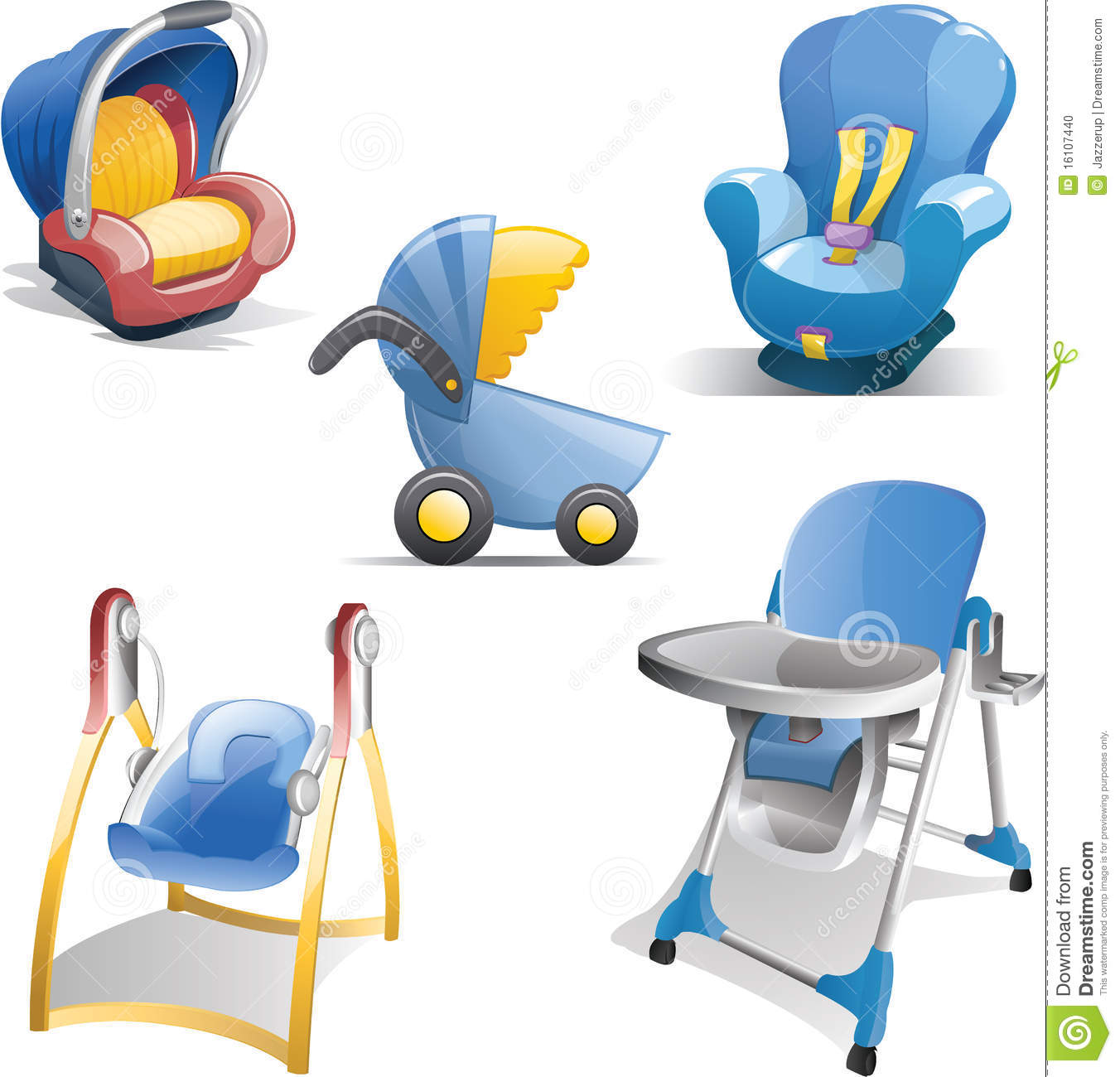 Baby Gear Icon Set Stock Photo - Image: 16107440