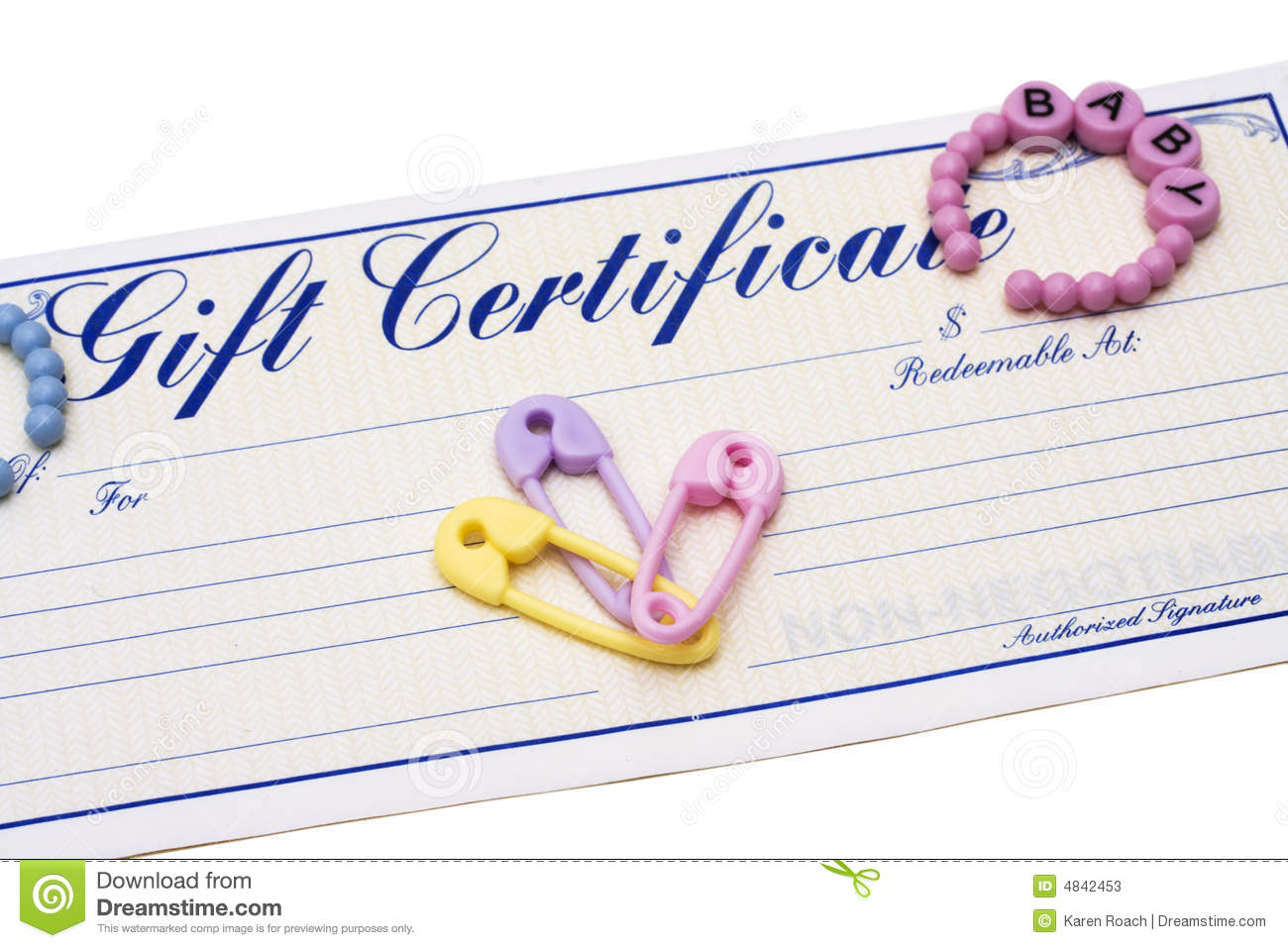 Baby shower gift certificate template baby shower gift tag baby shower gift certificate template baby gift certificate stock photos image yelopaper Choice Image