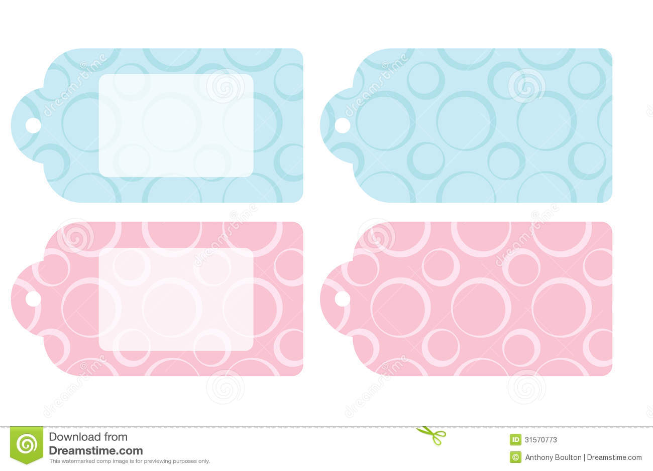 Baby Gift Labels : Baby gift tags stock photos image