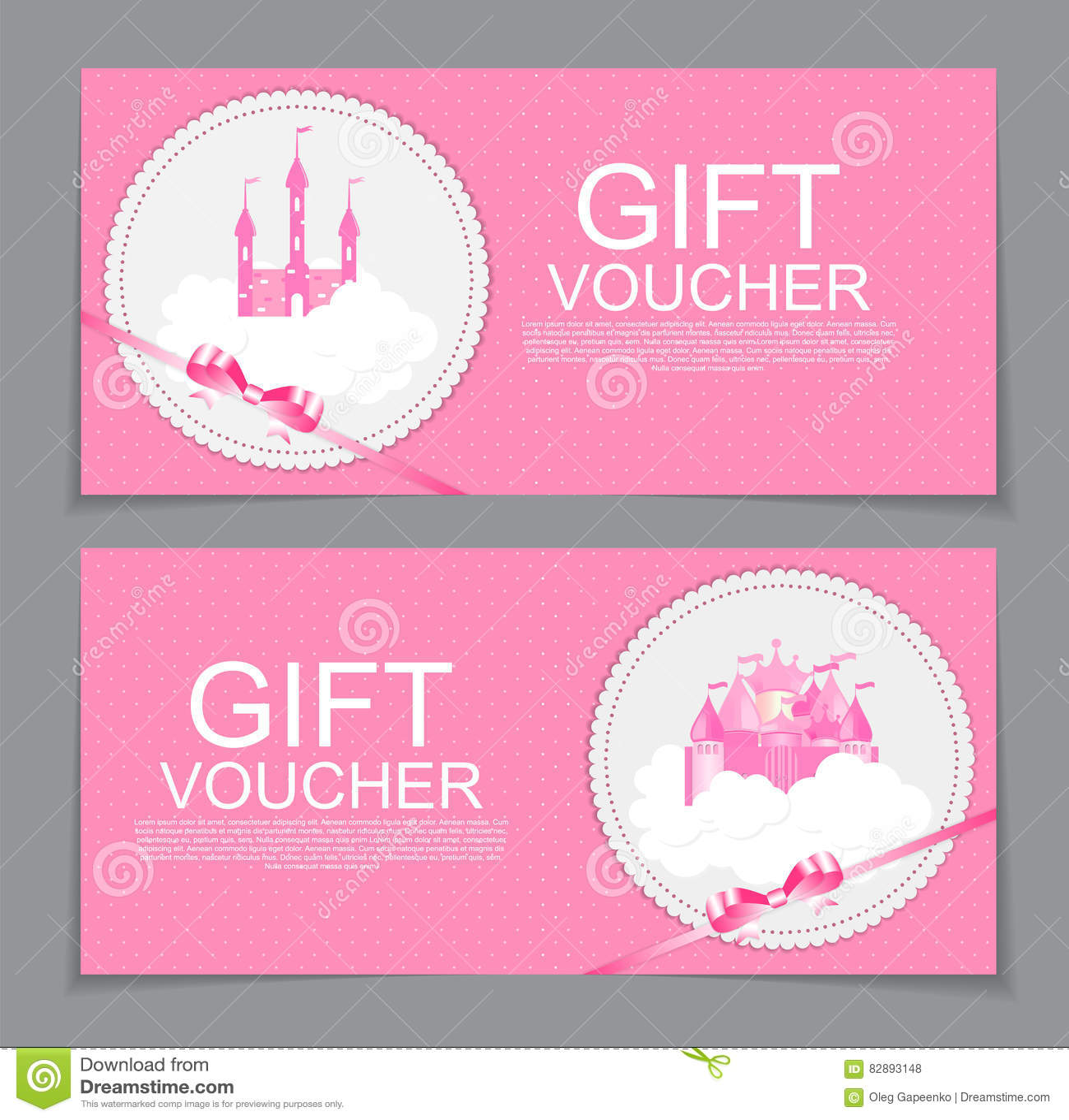 Baby Gift Voucher Template. Vector Illustration. Stock Vector .