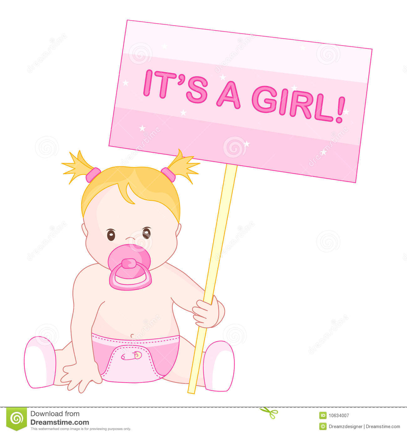 baby girl announcement royalty free stock photography