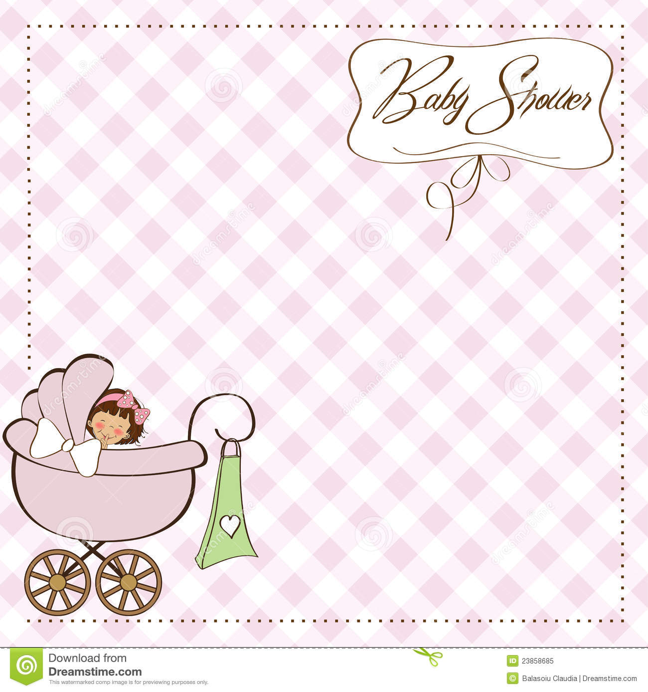 baby girl announcement template info baby girl announcement card royalty stock photo image 23858685