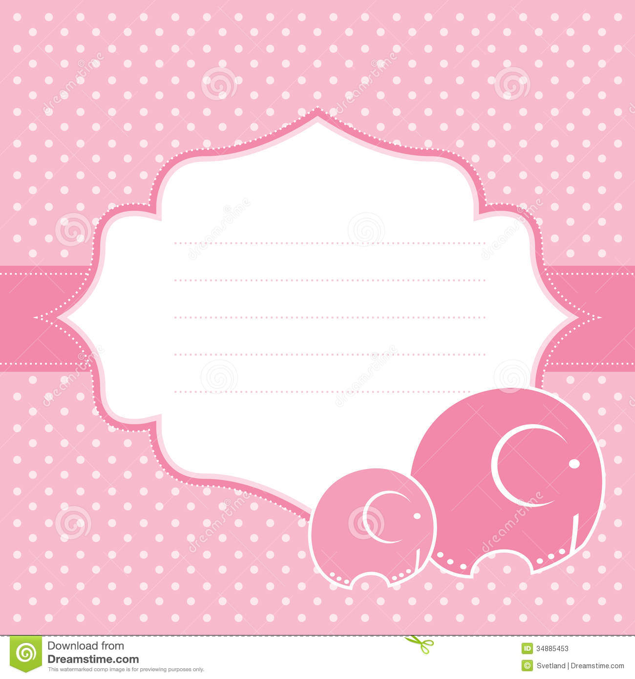 baby girl announcement card vector illustration stock vector