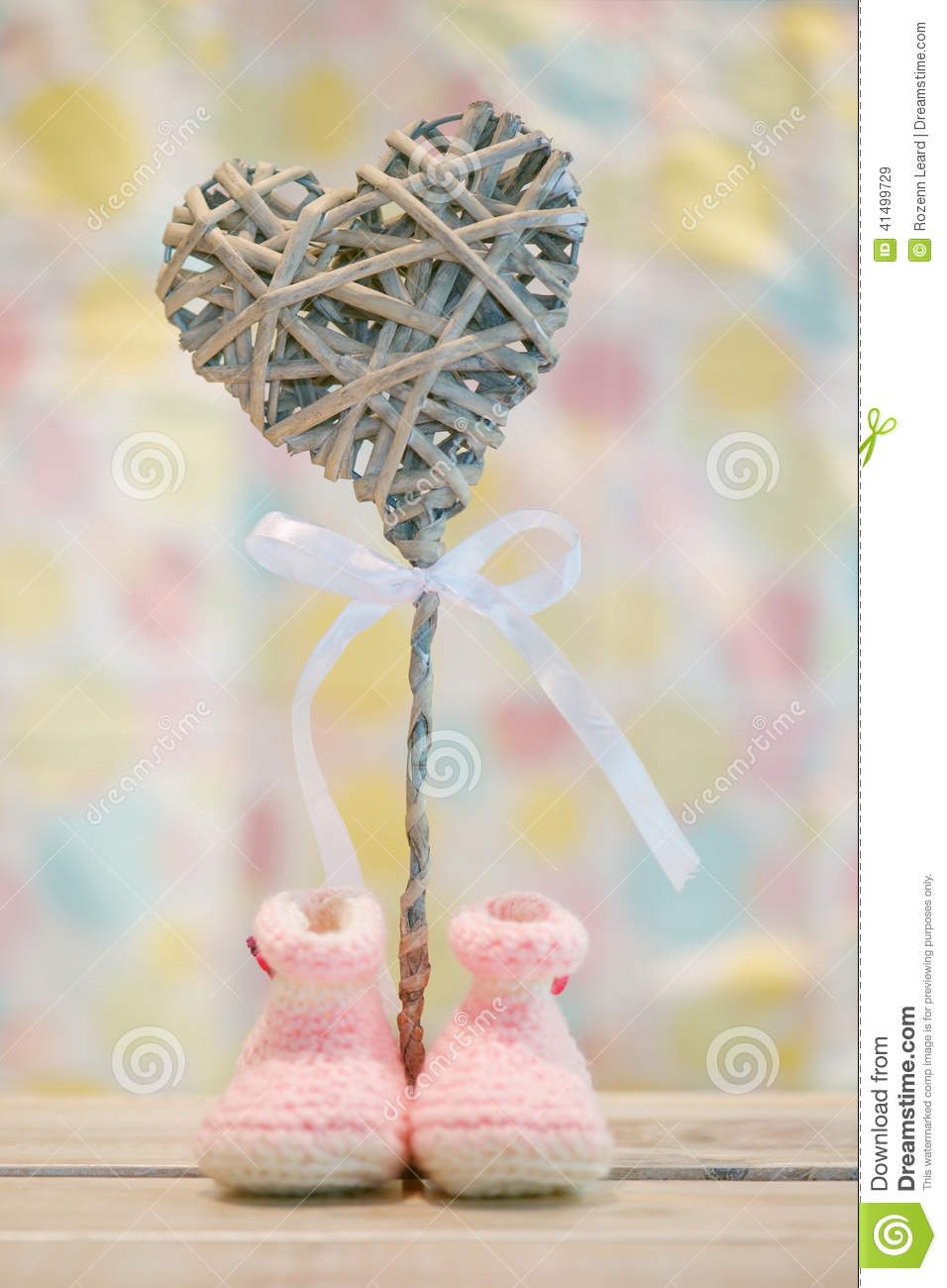 baby girl announcement stock image image of booties 41499729