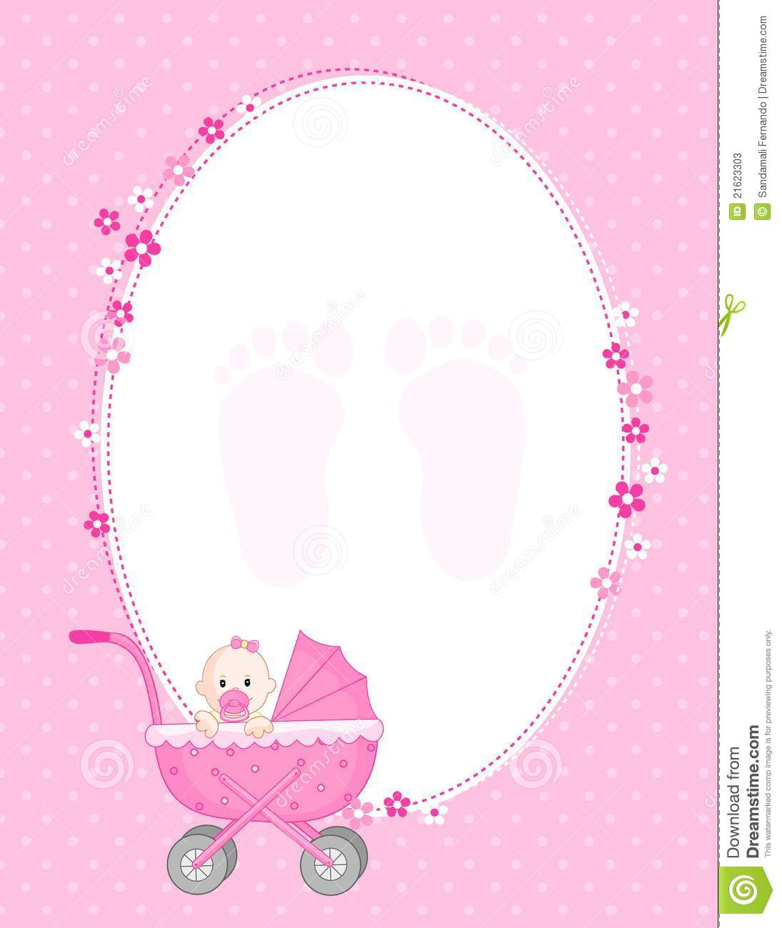 Baby girl arrival stock vector. Illustration of child ...