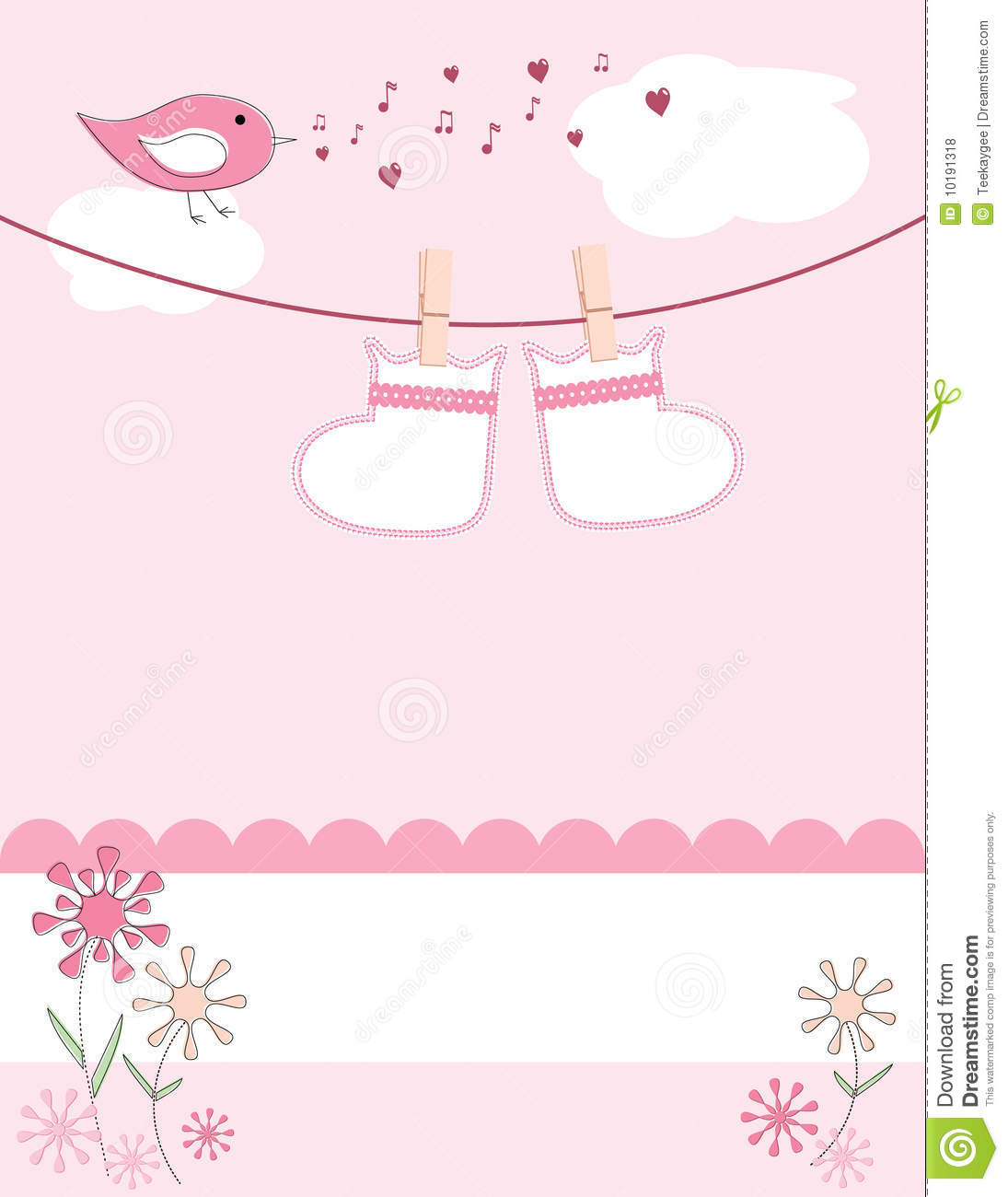 baby girl arrival announcement card royalty free stock baby girl clothesline clipart baby shower clothesline clipart