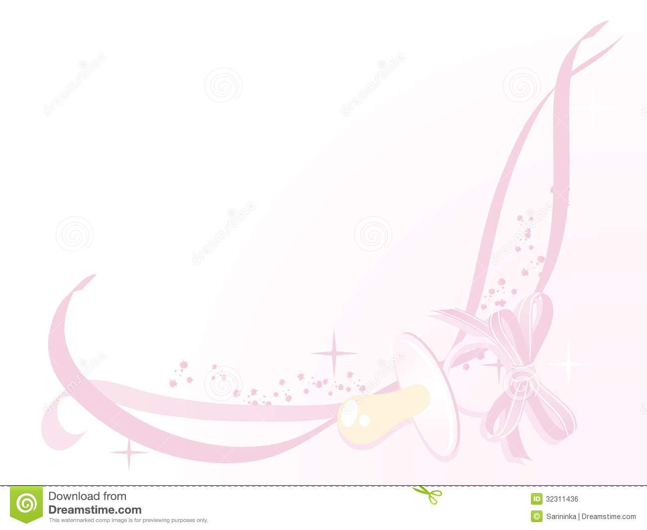 Baby Girl Arrival Card Royalty Free Image Image 32311436 – Announcement of Baby Girl