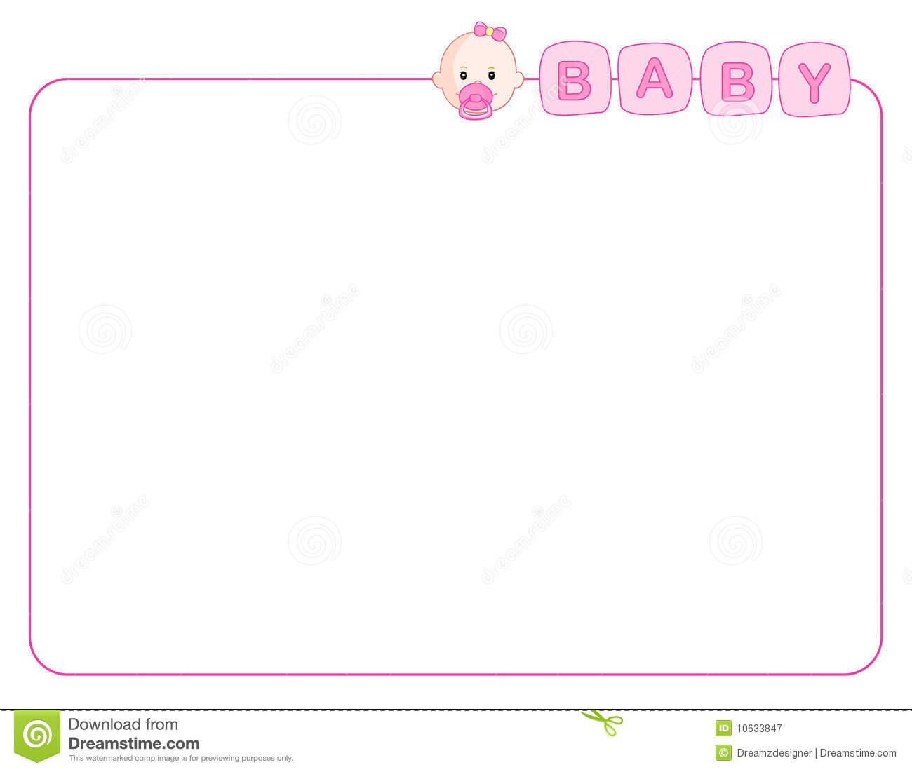 Baby Girl Arrival Card / Background Royalty Free Stock Photography ...