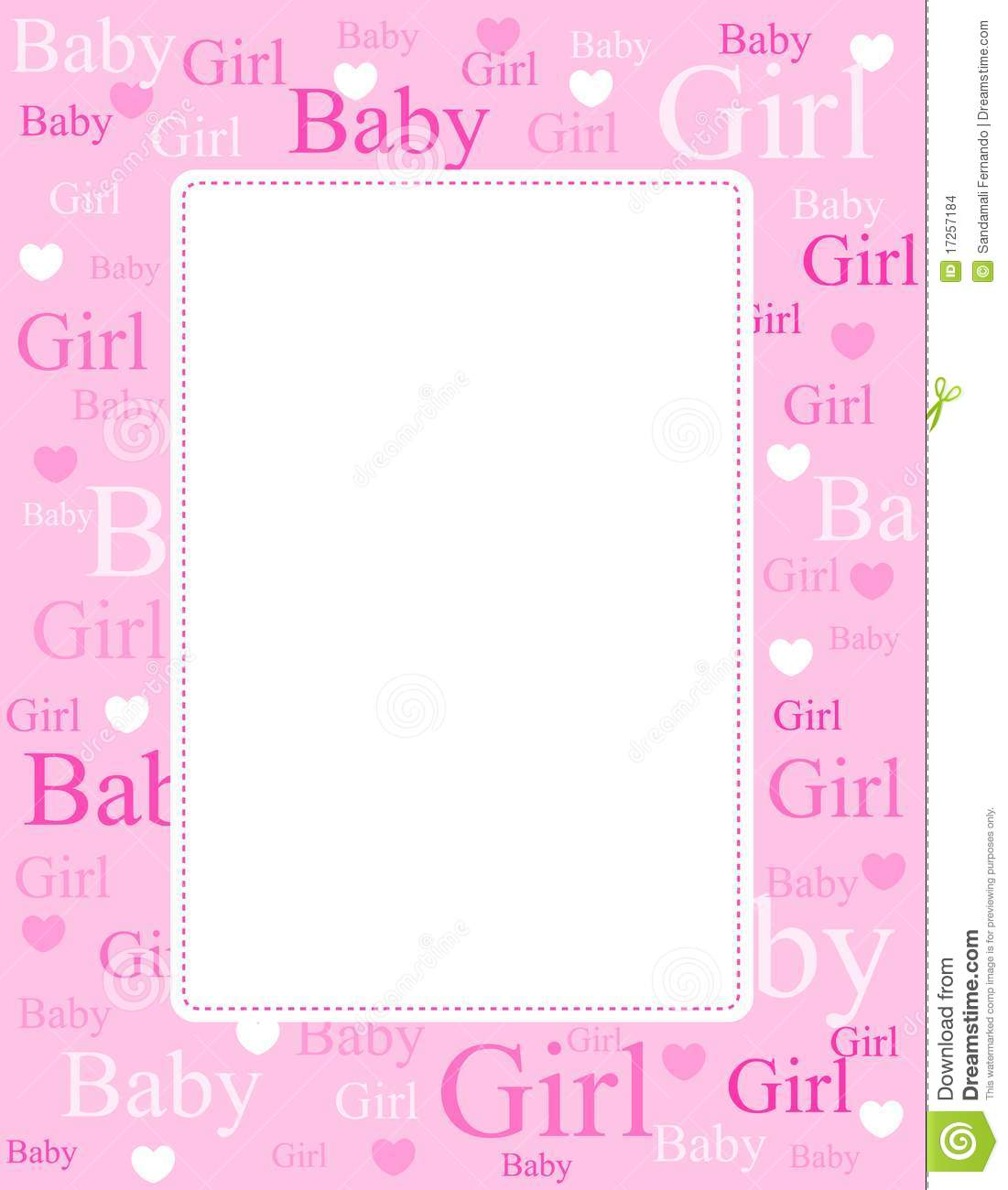 Baby Girl Arrival Card / Background Stock Vector - Illustration of ...