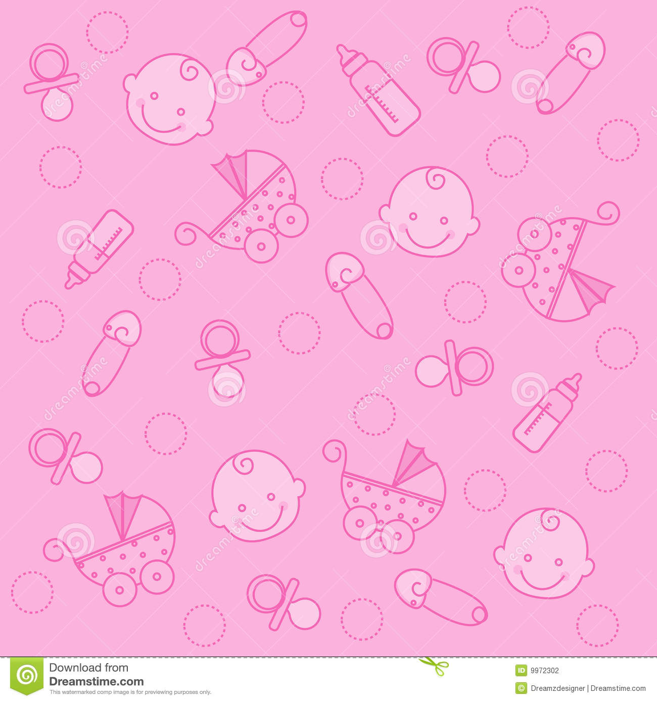 Baby girl background stock vector. Image of arrival, congratulations - 9972302