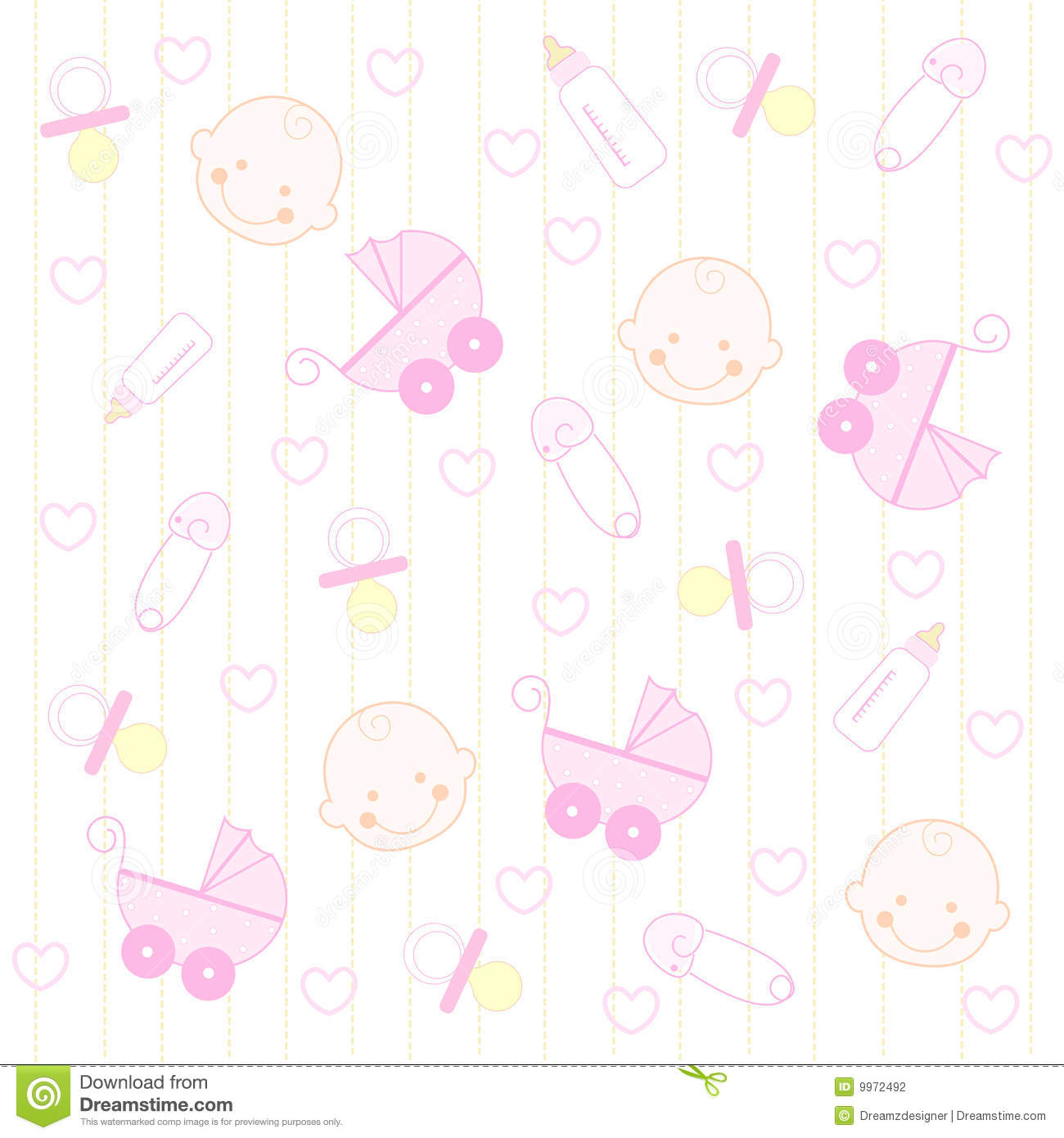 Baby Girl Background Stock Photography - Image: 9972492