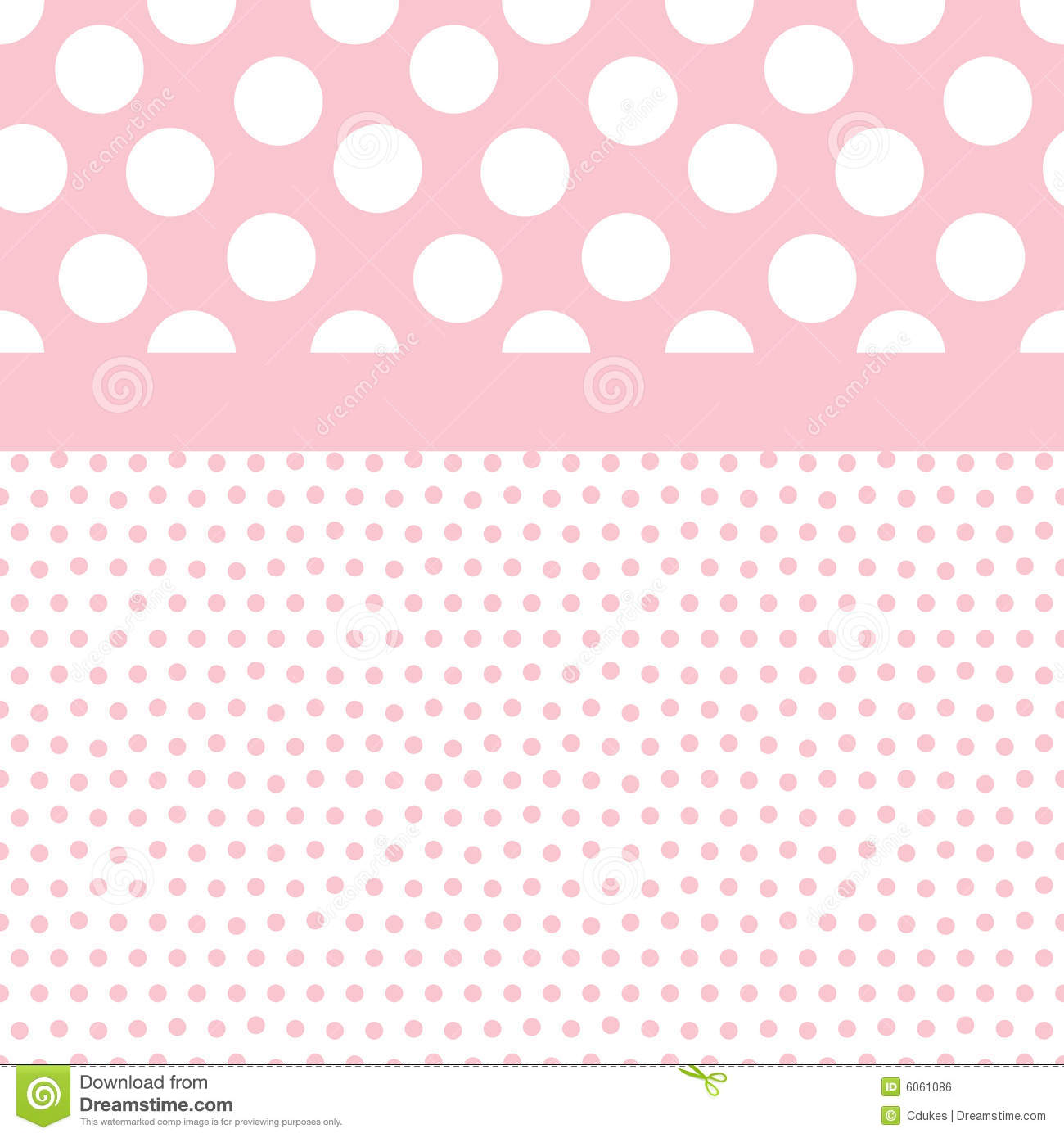 Download Baby Girl Background Pattern Stock Illustration   Illustration Of  Dots, Bold: 6061086