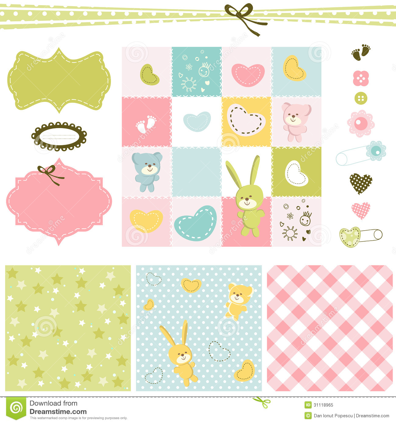 How to scrapbook for baby girl - Baby Girl Backgrounds Royalty Free Stock Photo